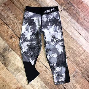 Girls Nike Pro Crop Leggings Size L